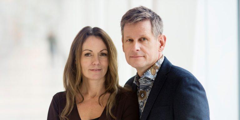 Robert Karjel och Isabela Moretti