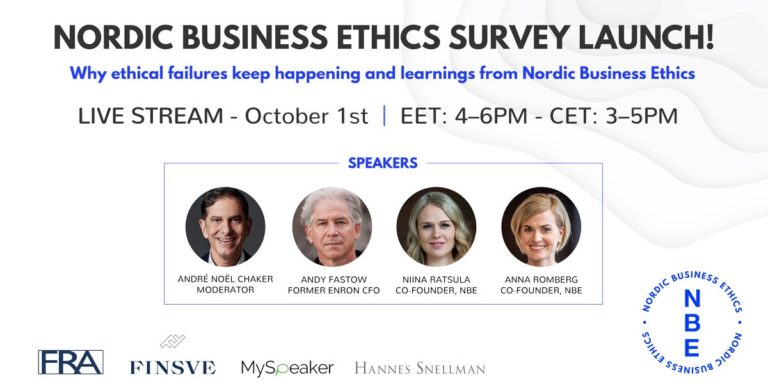NORDIC BUSINESS ETHICS SURVEY 2020 LAUNCH