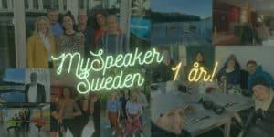 MySpeaker 1 år bannerbild