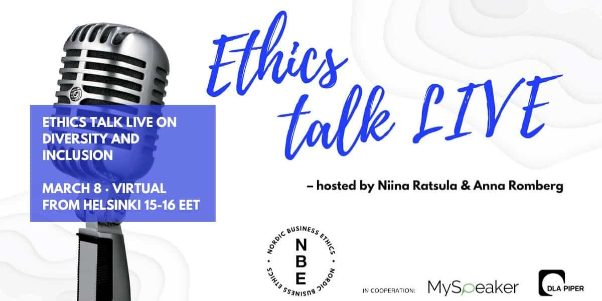 Ethics talk live 8 march 2021